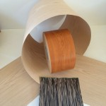 Wood veneer and PVC film for relaying frames